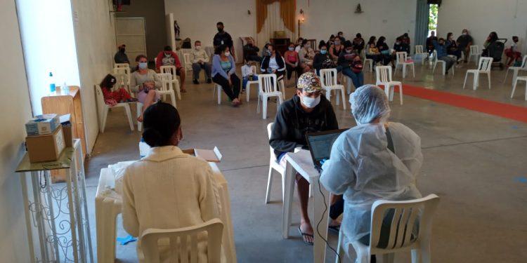 Iniciativa da Frente de Ações Sociais da Força-Tarefa Unicamp contra a Covid-19 e a Frente pela Vida em Defesa do SUS na paróquia São Marcos . Fotos: Divulgação