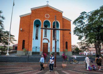 Centro da cidade de Serrana, na região de Ribeirão Preto:  95% dos habitantes acima de 18 anos imunizados. Foto: Divulgação