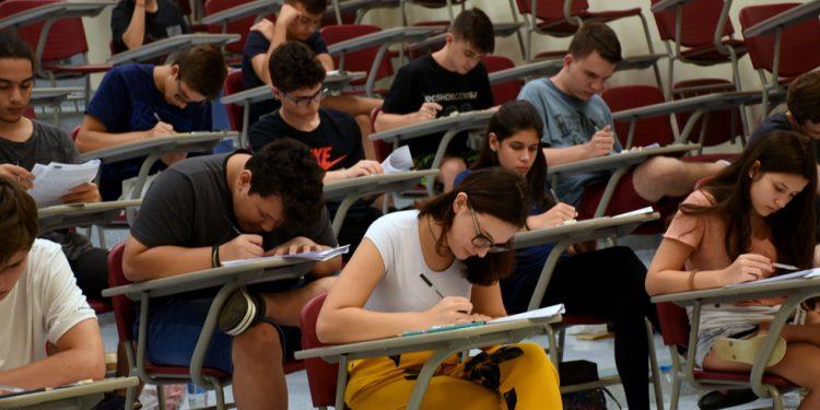 Alunos durante prova do vestibular na Unicamp. Foto: Antonino Perri \ Unicamp
