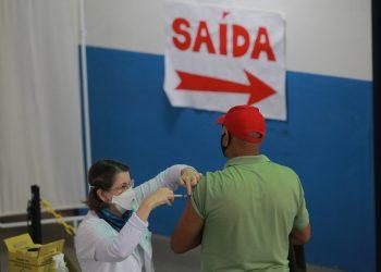 Posto de vacinação contra a Covid-19, neste sábado em Campinas. Fotos:  Leandro Ferreira \ Hora Campinas