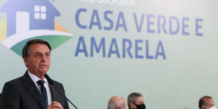 Cerimônia de  lançamento do Programa Casa Verde e Amarela. Foto: Marcos Corrêa/PR
