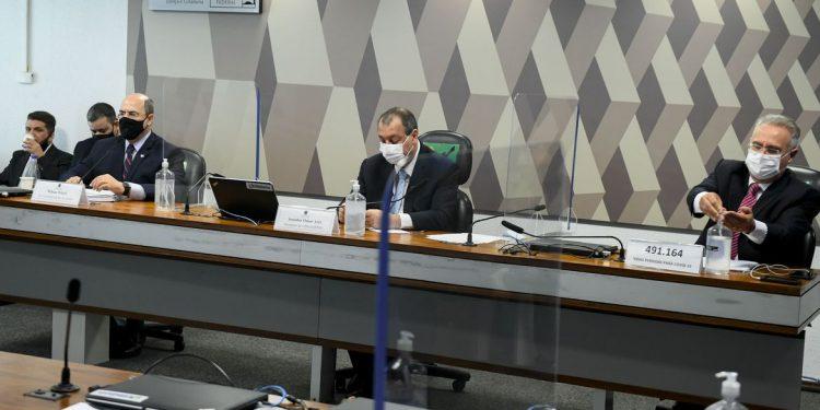 Witzel deixou a CPI da Covid após mais de quatro horas de depoimento. Foto: Marcos Oliveira/Agência Senado