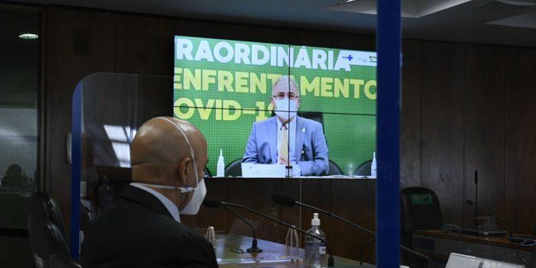 Comissão Temporária Covid-19 realiza audiência pública com o ministro Marcelo Queiroga. Foto: Roque de Sá/Agência Senado