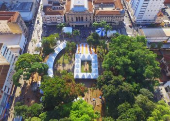 Vista aérea do local de realização da Feira Internacional do Livro de Ribeirão Preto - Foto: Divulgação