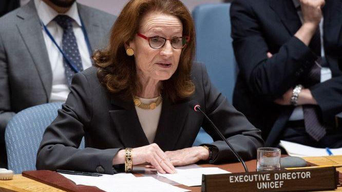 A diretora-executiva do Unicef, Henrietta Fore - Foto: ONU/Evan Schneider