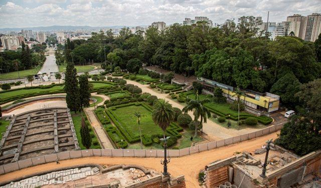 Observatório da Obra, montado nas obras do Museu do Ipiranga - Foto: Hélio Nobre/Divulgação