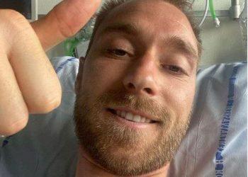 Eriksen, jogador da seleção da Dinamarca, que sofreu mal súbito durante partida no último sábado - Foto: Reprodução Instagram