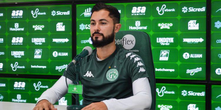 Bruno Sávio conta com a confiança do técnico do Bugre. Foto: Depto. de Comunicação/Guarani FC.