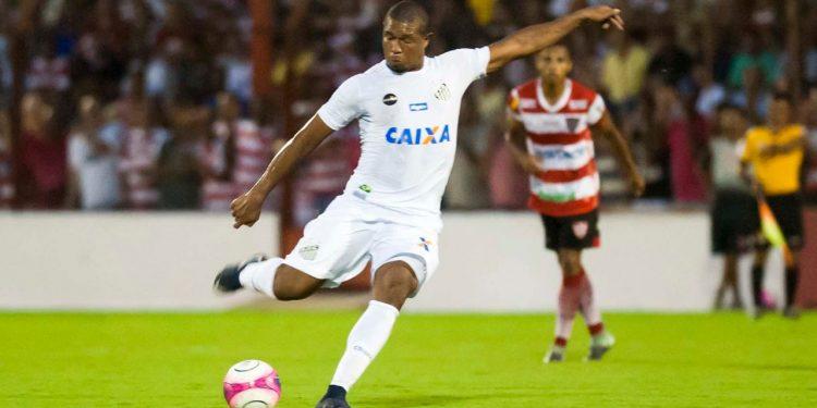 Novo reforço da Macaca, o atacante Rodrigão pertence ao Santos. Foto: Ivan Storti/SFC