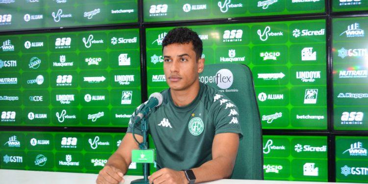 """O jogador Diogo Mateus: """"o tempo que eu fiquei sem entrar em campo não foi muito longo"""" - Foto: Departamento de Comunicação/Guarani FC"""