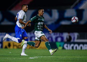 O Guarani ainda segurou a pressão do adversário no final da partida. Foto: Alisson Frazão/Guarani FC