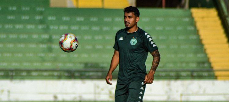 Suspenso, Bidu está fora do confronto com o Coritiba. Foto: Marcos Ortiz/Guarani FC