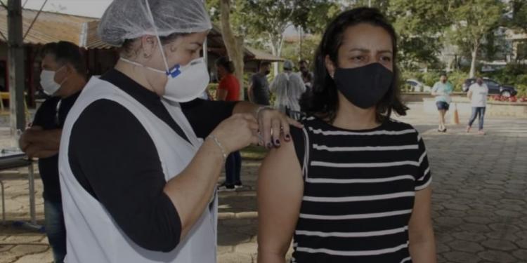 Posto de vacinação contra a Cobid-19 em Jaguariúna. Foto: Divulgação