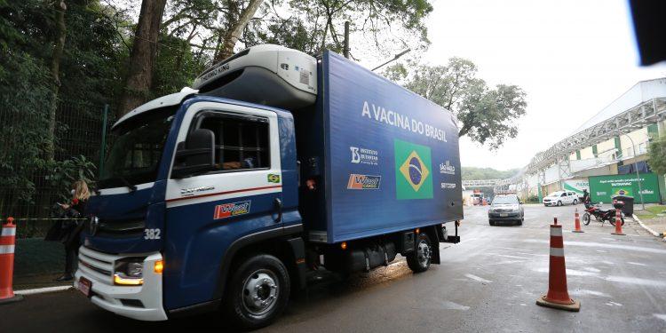 Nesta sexta foi feira a entrega de 800 mil doses ao programa nacional de imunização. Foto: Divulgação