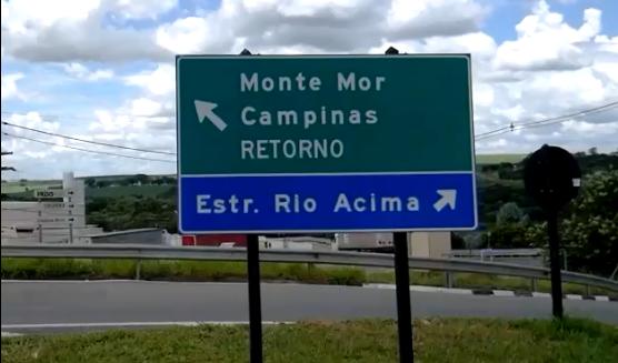 Estrada vicinal Rio Acima, que liga Monte Mor ao aeroporto de Viracopos