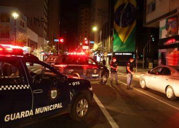 Guardas Municipais em ações do Toque de Recolher na região central de Campinas, Foto: Divulgação \ PMC