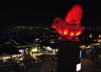 O símbolo do shopping aparece em nova corpara estimular as ações do Junho Vermelho. Foto: Divulgação
