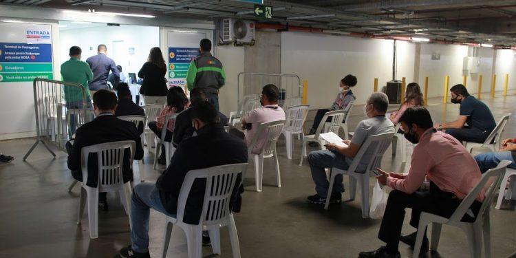 Vacinação de funcionários do Aeroporto de Viracopos atingiu a meta. Foto: Leandro Ferreira/Hora Campinas