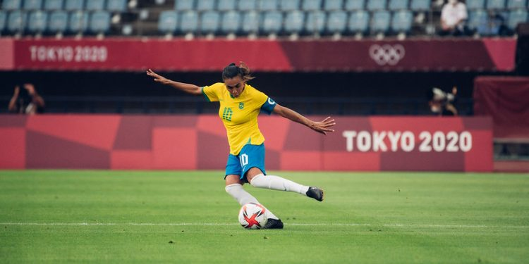 Marta está a dois gols de igualar o recorde de artilharia da Olimpíada. Foto: Sam Robles/CBF