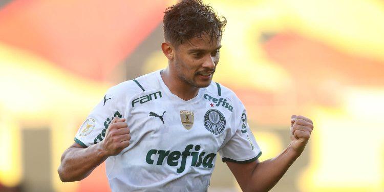 O único gol do jogo foi marcado por Gustavo Scarpa, destaque da partida do Verdão. Foto: Divulgação