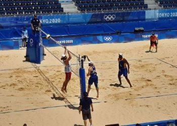 Dupla masculina do vôlei de praia estreou bem nos jogos olimpícos - Foto: Christian Dales/COB