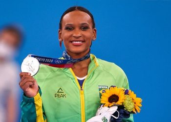 A jovem ginasta Rebeca Andrade: feito histórico para o Brasil para a ginástica artística feminina - Foto: Jonne Roriz/COB