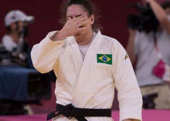 Mayra é primeira judoca do Brasil a conquistar medalha em três olimpíadas - Foto: Júlio César Guimarães/COB