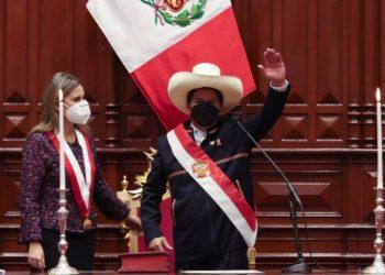 """Castillo, novo presidente do Peru, toma posse: """"por um país sem corrupção e por uma nova Constituição"""" - Foto: Presidência do Peru"""