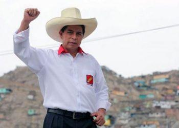 O socialista Pedro Castillo confirma sua eleição no Peru - Foto: Reprodução/Facebook/Wladimir Cerrón