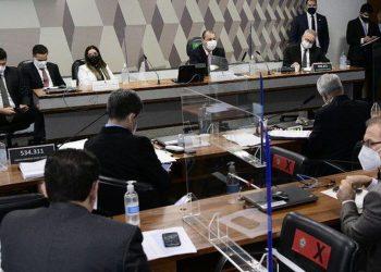 A diretora técnica ficou em silêncio e informou ao senador Omar Aziz que não iria produzir provas contra si - Foto: Senado Federal