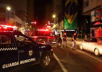 Barreira da GM na Avenida Francisco Glicério em março desse ano Foto: Adriano Rosa/PMC/Divulgação