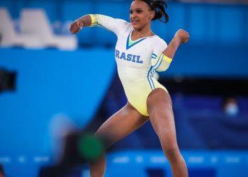 Rebeca Andrade se destaca na disputa individual da ginástica artística - Foto: Gaspar Nóbrega/COB