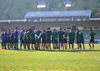 Guarani treinou hoje e encerrou a preparação antes da viagem para Londrina - Foto: Thomaz Marostegan/Guarani FC