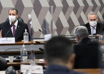 Os senadores Omar Aziz e Renan Calheiros, presidente e relator da CPI da Pandemia: novos requerimentos - Foto: Marcos Oliveira/Agência Senado