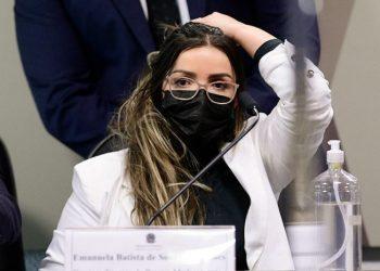 Emanuela Medrades, diretora da Precisa, hoje na CPI - Foto: Pedro França/Agência Senado