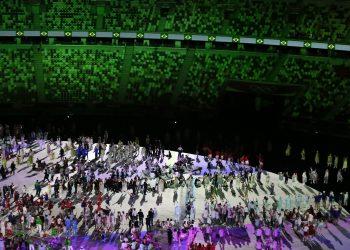 É a primeira vez que isso aconteceu durante uma cerimônia de abertura de uma Olimpíada Foto: Breno Barros/rededoesporte.gov.br