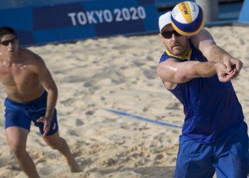 Álvaro e Alison durantre treino para os Jogos de Tóquio Foto: Júlio César Guimarães/COB
