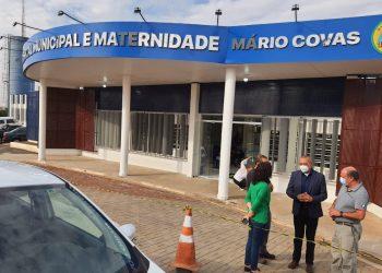 Vistoria realizada nesta sexta (16) no Pronto-Socorro do Mário Covas. Foto: Divulgação