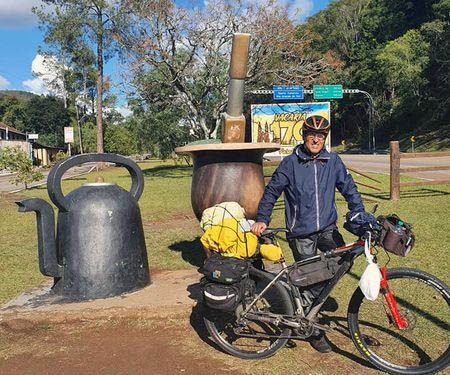 A viagem de Matias termina neste sábado (3), após 7.400 km de aventura. Foto: Arquivo Pessoal/Divulgação