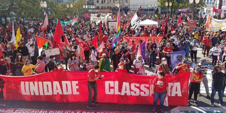 Em Campinas, os atos foram convocados por partidos de esquerda e entidades de classe. Foto: Leandro Ferreira/Hora Campinas