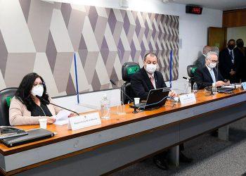CPI ouve  a servidora Regina Célia Silva Oliveira sobre o contrat do Ministério da Saúde com a Covaxin. Foto: AB