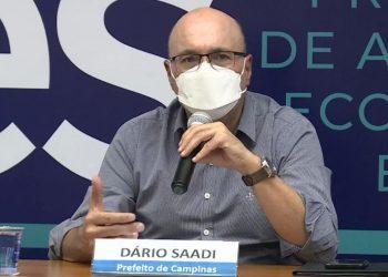 O prefeito de Campinas, Dário Saadi, durante a live onde foi apresentada a proposta do Refis da Pandemia - Foto: Reprodução Facebook