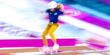 Rayssa Leal fez história nos Jogos. Foto: Wander Roberto/COB
