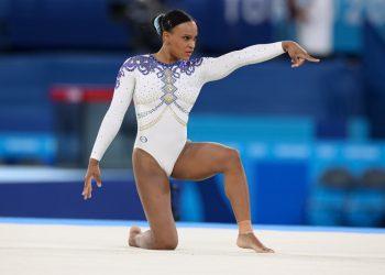 Rebeca Andrade pode dar ao Brasil mais uma medalha nesta quinta. Foto: CBG