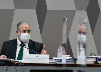 O procurador Geral da República, Augusto Araras, em sabatina no senado.  Foto: Agência Senado