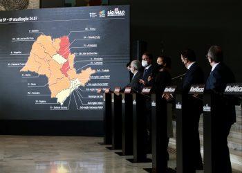 Coletiva de imprensa do comitê de enfrentamento da pandemia do novo coronavírus. Foto: Divulgação