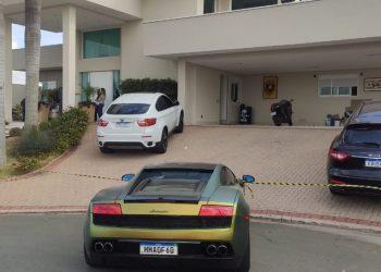 Residência do emprsário onde ocorreu o crime. Foto: Divulgação / PM