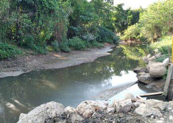 O nível do Rio Capivari estava a 1,2 na sexta-feira (24). Foto: Divulgação
