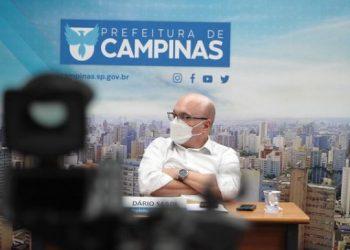 Dário no Salão Azul: prefeito está evoluindo de maneira satisfatória Foto: Manoel de Brito/Divulgação