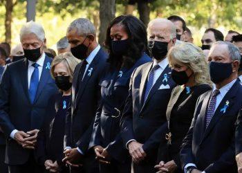 Cerimônia homenageou os quase 3 mil mortos nos atentados de 11 de setembro. Foto: Reprodução/Twitter